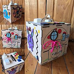 Бизикуб Бизибокс Карусель Smart box Ручная работа Развивающая игрушка. Kaspi RED. Рассрочка.