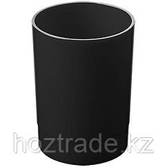 """Подставка стакан Стамм """"Офис"""", пластик, круглый, черный"""