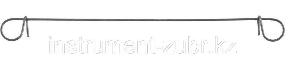 Проволока для вязки арматуры ЗУБР с кольцами, d=1,2мм, L=140мм, сумм d арматуры до 38мм, 100шт