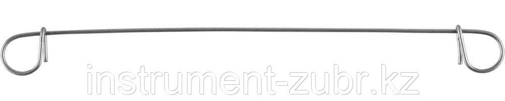 Проволока для вязки арматуры ЗУБР с кольцами, d=1,2мм, L=140мм, сумм d арматуры до 38мм, 1000шт
