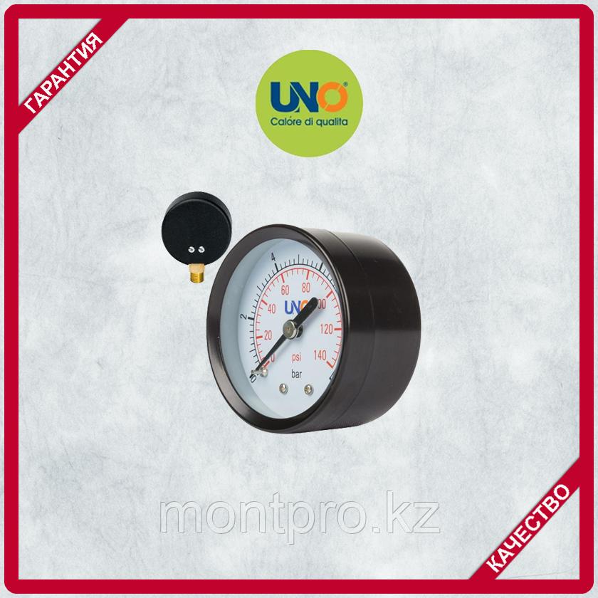 Манометр UNO диаметр 50мм 0-10bar, с боковым соединением