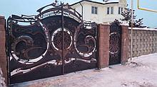 Элегантные кованые ворота