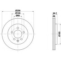 Тормозные диски Volkswagen New Beetle (01-05,задние, Optimal), фото 1