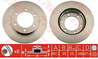 Тормозные диски Toyota Hilux (05-..., передние, Trw)
