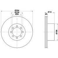 Тормозные диски Iveco Daily (02-..., задние, TRW) , фото 1