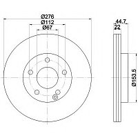 Тормозные диски Mercedes A-Class W169 (04-12, передние, вент., Optimal), фото 1