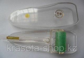 Дермароллер - Мезороллер Широкий титановые  позолоченные микроиглы 1 мм