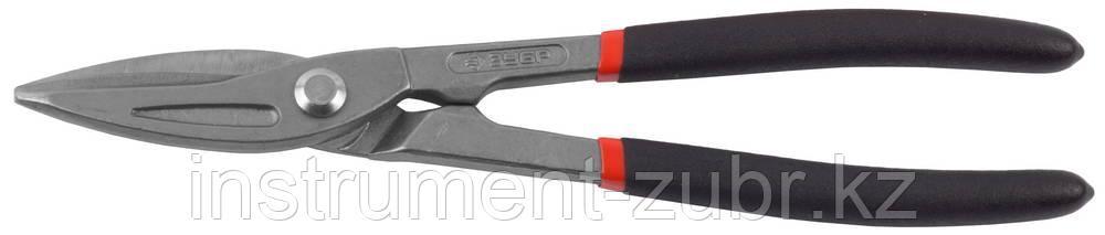 ЗУБР Ножницы по металлу цельнокованые, прямые, У8А, 250 мм