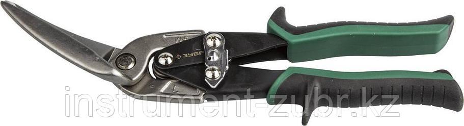ЗУБР Ножницы по металлу, левые удлинённые, Cr-Mo, 280 мм, серия Профессионал, фото 2