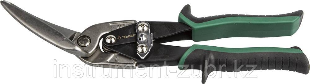ЗУБР Ножницы по металлу, левые удлинённые, Cr-Mo, 280 мм, серия Профессионал