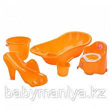 Dunya Plastik Набор для детей 5 предметов Оранжевый