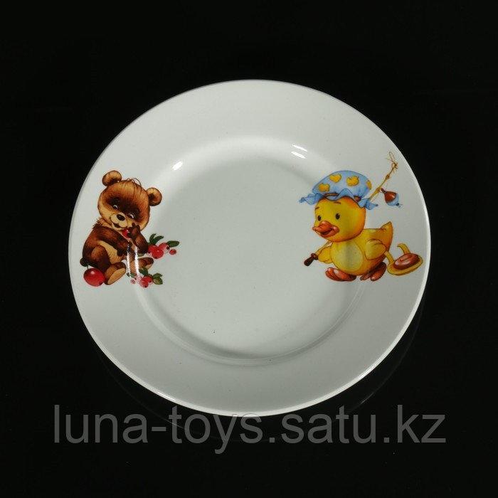 """Тарелка мелкая 17,5 см """"Утенок, медвежонок"""""""