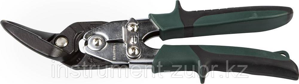 Ножницы по металлу KRAFTOL BULLDOG проходные с двойной рычажной передачей, левые, 260 мм