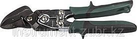 Ножницы по металлу KRAFTOOL BULLDOG проходные с рычажной передачей, правые, губка с выносом, Cr-Mo, 260 мм
