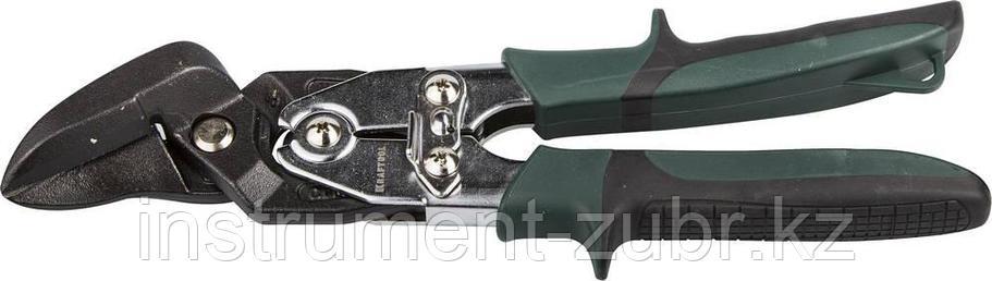 Ножницы по металлу KRAFTOOL BULLDOG проходные с рычажной передачей, правые, губка с выносом, Cr-Mo, 260 мм, фото 2