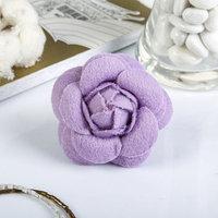 Декор для творчества войлок 'Королевская роза' сиреневый (набор 2 шт) 6,5х6,5 см