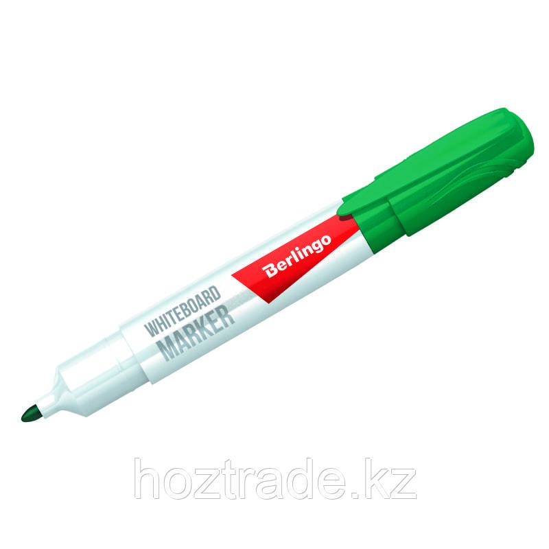 Маркер для белых досок Berlingo зеленый, пулевидный, 2 мм.