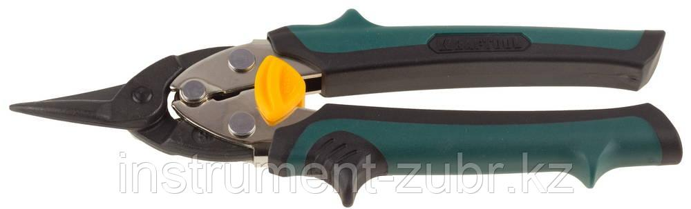 Ножницы по металлу KRAFTOOL COMPACT, Cr-Mo, компактные, прямые, 180 мм