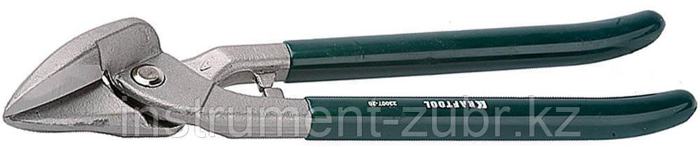 Ножницы по металлу цельнокованые KRAFTOOL, сквозной прямой, выкружной и фигурный рез, 260мм