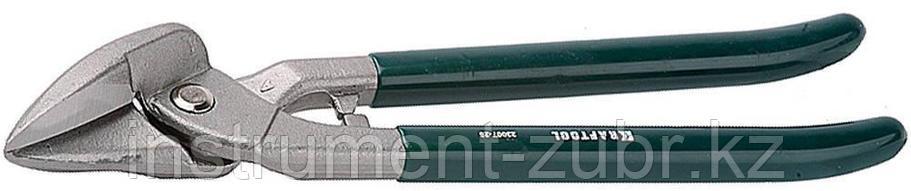 Ножницы по металлу цельнокованые KRAFTOOL, сквозной прямой, выкружной и фигурный рез, 260мм, фото 2