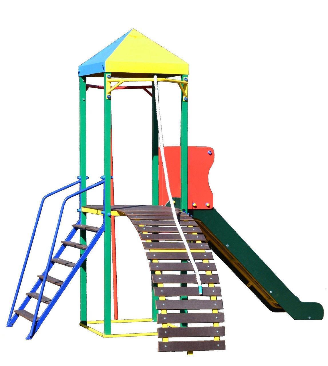 """Комплекс """"ОМЕГА-2"""" с горкой, спортивно-игровой для детей"""