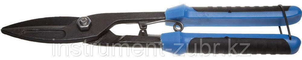 Ножницы по металлу СИБИН, прямые удлинённые, с пружиной, 290 мм