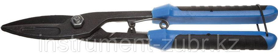 Ножницы по металлу СИБИН, прямые удлинённые, с пружиной, 290 мм, фото 2
