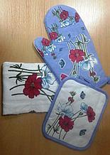 Набор подарочный для кухни (полотенце, прихватка, рукавица)
