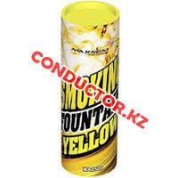 Цветной дым Smoking Fountain 30-40 сек желтый