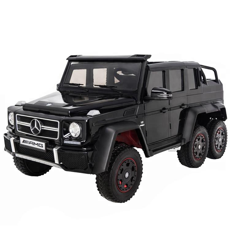 Электромобиль двухместный шестиколёсный Mercedes Benz G63 AMG 4WD 6x6 Черный