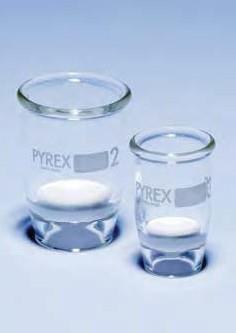 Тигель стеклянный 60 мл, тип Гуча, с фильтрующим диском 40 мм (пор.10-16 микрон), (класс пористости 4) (Pyrex)
