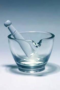 Пестик стеклянный L-110 мм, глазированная поверхность (Pyrex)