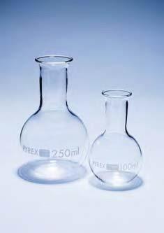 Колба плоскодонная П-2-500 с цилиндрической горловиной 30, ТС (Pyrex)