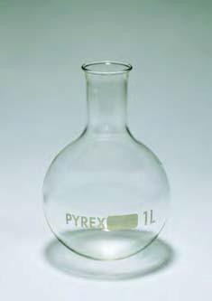 Колба круглодонная К-3-500 без шлифа ТХС горловина 30 (Pyrex)