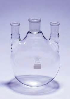 Колба круглодонная КГП-3-1-2000 с 3-мя параллельными горловинами со шлифами 29/32-19/26-19/26 (Quickfit)