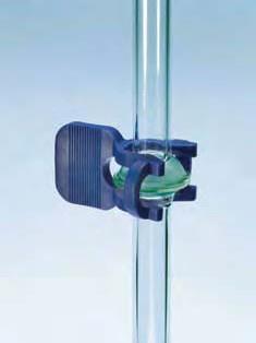 Крепление для сферических шлифов S19 пластиковое, темно-синее (Quickfit)