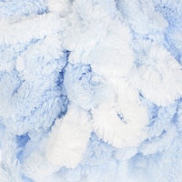 Пряжа 'Puffy color' 100 микрополиэстер 9м/100г (5865 бело-голубой)