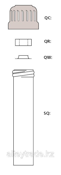 Кольцо силиконовое под завинчивающуюся крышку, резьба 18, с отверствием наверху  d-7-8,5 мм (Quickfit)