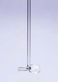 Перемешивающая насадка пропеллерного типа (2 лопасти, шириной 50 мм) стеклянная, L-610 мм, d оси-6 мм (Quickfit)