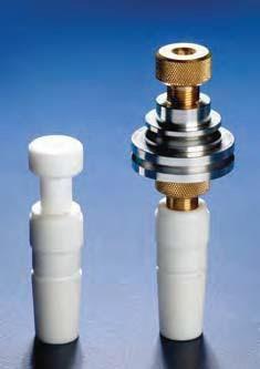 Втулка фторопластовая для  стеклянных перемешивающих насадок d оси-6 мм, со шкивом из PTFE d-35 мм,керн 19/26 (Quickfit)
