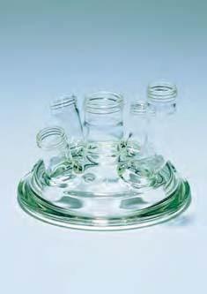 Крышка стеклянная с пришлифованными краями для реакционных сосудов d-100 мм (SVL)