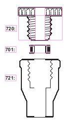Кольцо уплотнительное для переходника Torion, для трубок d-4,8-5,2 мм (SVL)