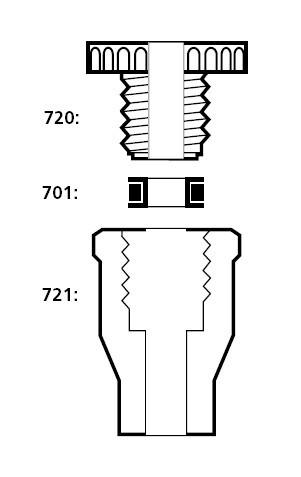 Вставка фторопластовая с отверстием d-8,7 мм к переходнику Torion (SVL)
