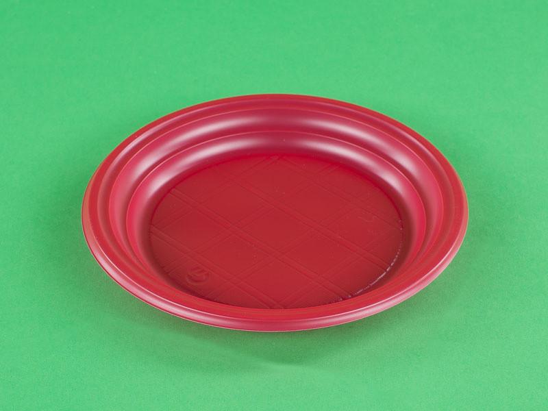 Тарелка десертная красная 165 мм.