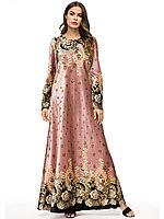 Длинное платье золотой бархат, фото 1