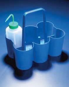 Корзина для переноски 6 бутылей, d отделения-90 мм, полипропиленовая (Azlon)