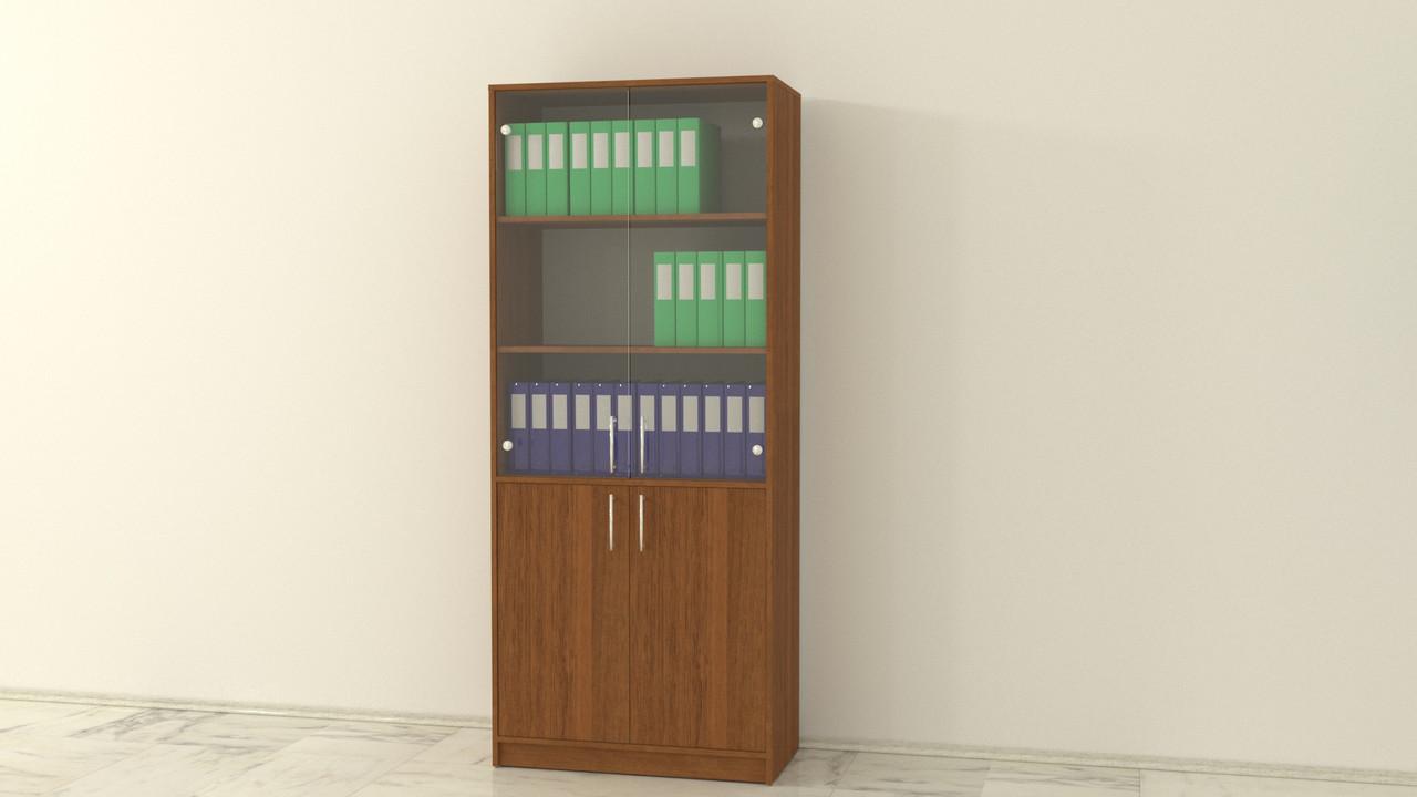 Болашак шкаф для документов со стеклянными прозрачными дверьми Орех Ноче Экко