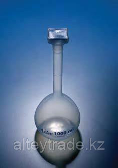 Колба мерная с полипропиленовой пробкой NS14/23, 100 мл, класс В, материал-полипропилен (РР) (Azlon)