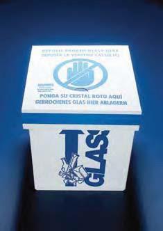 Коробка для сбора стеклянных отходов, напольная, картонная, 30х30х70 мм (Azlon)