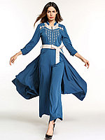 Платье сплит брюки с поясом, фото 1